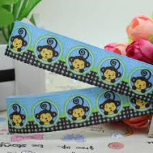 monkey ribbon grosgrain ribbon printed monkey online grosgrain ribbon printed