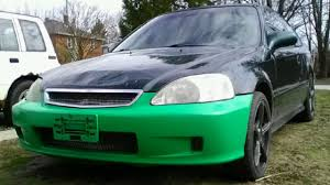 honda civic 2000 modified 2000 honda civic bumper modification youtube