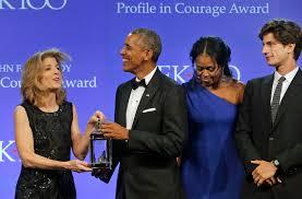 tatiana schlossberg jack schlossberg gives barack obama profile in courage people com
