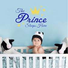 Wall Decal Quotes For Nursery by Sweet Quotes The Prince And Princess Sleeps Here Wall Stickers Diy