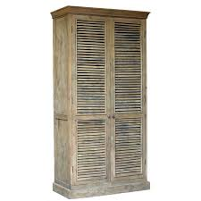 armoire astounding shutter armoire for home restoration hardware