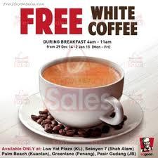 Coffee Kfc kfc free white coffee giveaway promotion malaysia