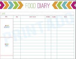 best photos of free printable food diary log free printable food