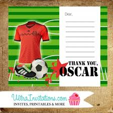 soccer thank you card