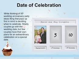 wedding anniversary ideas smart ideas for celebrating 50th wedding anniversary