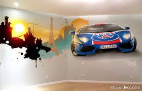chambre psg décoration graffiti chambre ado germain lamborghini