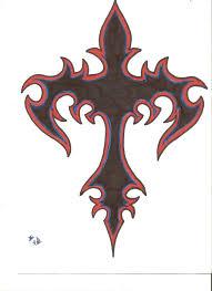 tribal cross by midnightblood7 on deviantart