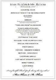 wedding day program wedding reception program template business template