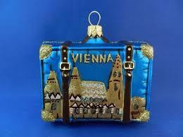 austria suitcase glass ornaments ornament