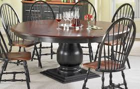 Round Pedestal Table Round Pedestal Dining Table Kate Madison - Black dining table with cherry top