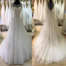 long sleeve lace elegant unique open back a line vintage wedding