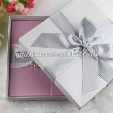 wedding invitations with ribbon customized luxury ribbon silk box satin wedding invitations view