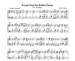 wedding dress chords piano free sheet bridal chorus here comes the for piano