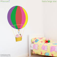 peppa and family rainbow hot air balloon wall sticker peppa and family rainbow hot air balloon wall sticker