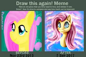 Mlp Fluttershy Meme - draw this again meme mlp fluttershy by xxchibixwolfxx on deviantart