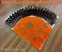 paper plate crafts thanksgiving pumpkin pie