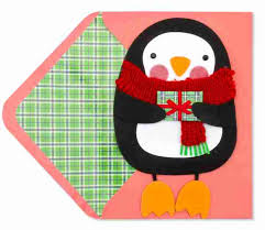 handmade penguin with dangly greeting cards papyrus