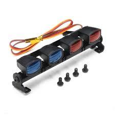 remote control car lights austar led aluminum alloy frame police lights for 1 10 1 8 rc car