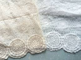 Lace Fabric For Curtains Japanese Ivory Cream White Lace Fabric Vintage Style Circle