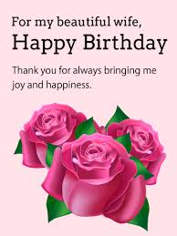 awesome birthday wishes with flower greeting love card for my wife