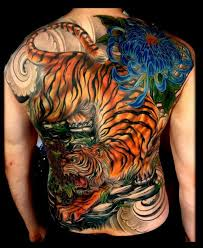 tiger back tattoos tiger back tattoos