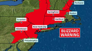 New York Weather Map by Blizzard Warning In 8 States During Winter Storm Stella The