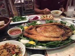 cuisine au barbecue poisson cuit au barbecue fattoush légumes etc picture of al