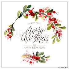 christmas cards in watercolor christmas card watercolor painting with lettering berry