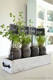 Window Sill Garden Inspiration Table Top Herb Garden From An Pallet Diy Table Top Herbs