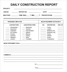 Construction Expense Report Template by 10 Daily Report Templates Word Excel Pdf Formats