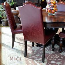 Red Leather Dining Chair Bright And Modern Red Leather Dining Room Chairs All Dining Room
