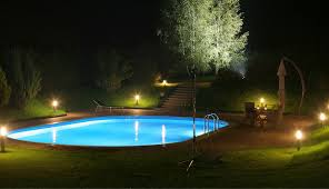 Backyard Landscape Lighting Ideas - outdoor lighting around pool round designs