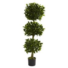 nearly green silk bay leaf tree 60 in high artificial plant