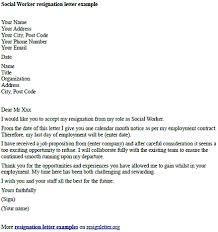 social worker resignation letter example resignation letter examples
