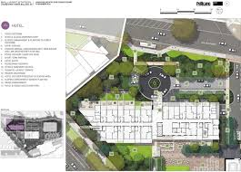 Courtyard Planning Concept Hotel Architectural Plans And Concept