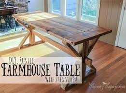 Diy Farmhouse Dining Room Table Diy Rustic Dining Room Table Beautiful 40 Diy Farmhouse Table