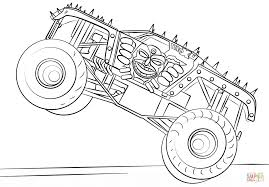 grave digger costume monster truck printable monster truck coloring pages for kids pertaining to