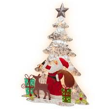 wire christmas tree with lights 16 novelty silhouette lights white wire single sided christmas tree