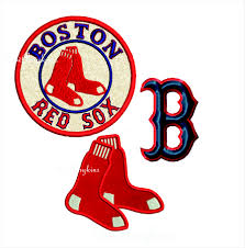 boston sox baseball applique satin stitch socks machine
