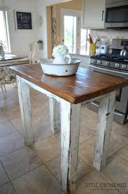 Kitchen Island Made From Reclaimed Wood Rustic Kitchen Island Little Vintage Nest