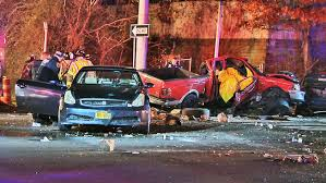 1 dead 3 hurt in chain reaction crash on long island police