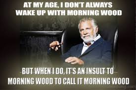 Morning Wood Meme - good morning meme