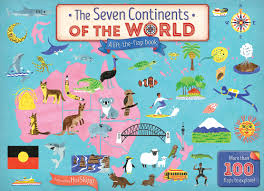 Seven Continents Map The Seven Continents Of The World The Five Mile Press