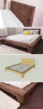 Build Wooden Bed Frame Platform Bed Bed Platform Wood Beds And Rustic Furniture