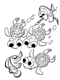 print u0026 download finding nemo sea turtle coloring pages