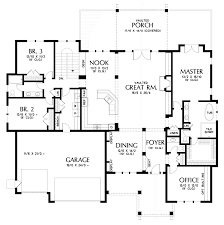 craftsman style house plan 4 beds 3 5 baths 5432 sq ft plan 48