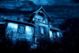 halloween haunted house wallpaper pocket press