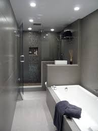 Grey And Black Bathroom Ideas Bath Toilet Setup For Ensuite Perhaps Plant Along Wall