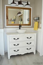 Vanities For Bathrooms by Old Dresser Turned Bathroom Vanity Tutorial