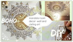 Diy Boho Home Decor Diy Mandala Wall Ceiling Art Decor Boho Youtube